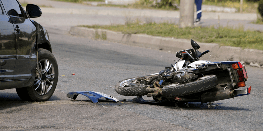 choque de moto accidente